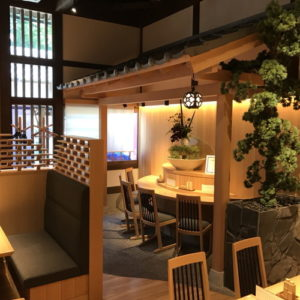 名古屋の金シャチ横丁 天ぷら天丼専門店「徳川忠兵衛」店内3