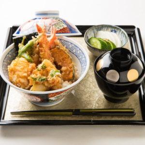 名古屋の金シャチ横丁 天ぷら天丼専門店「徳川忠兵衛」天丼4